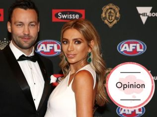 Jimmy and Nadia Bartel on the 2018 Brownlow Medal Red Carpet. Image: Michael Klein.