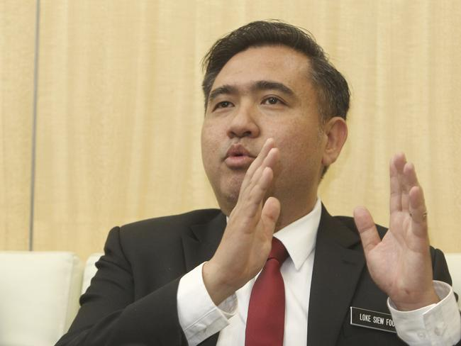 Malaysia's new Transport Minister Anthony Loke Siew Fook during a press conference last week where he said the search for MH370 would end tomorrow. Picture: AP