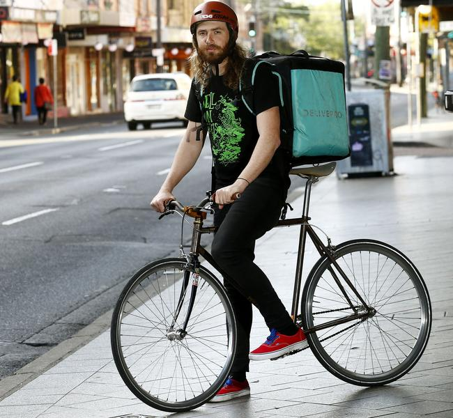 Ex-Deliveroo rider Tom Boorman would like to see safe cycling courses introduced for all food delivery riders. Picture: John Appleyard