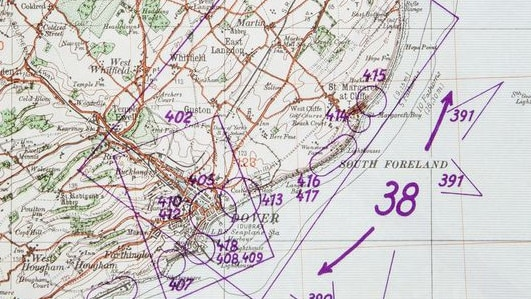 The dossier included detailed maps of possible landing points and places to attack, such as Dover (above). Picture: BNPS