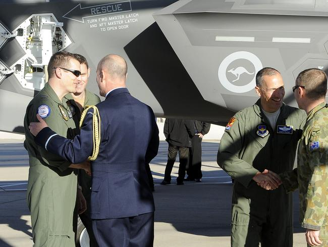 Special delivery ... Australia's first F-35 arrives for training operations in the US last month.