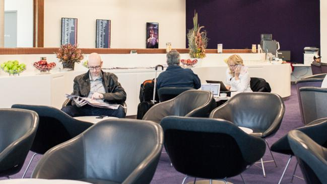 Competitor ... Virgin Australia's expanded lounge at Brisbane Airport opened in April. Picture: Supplied