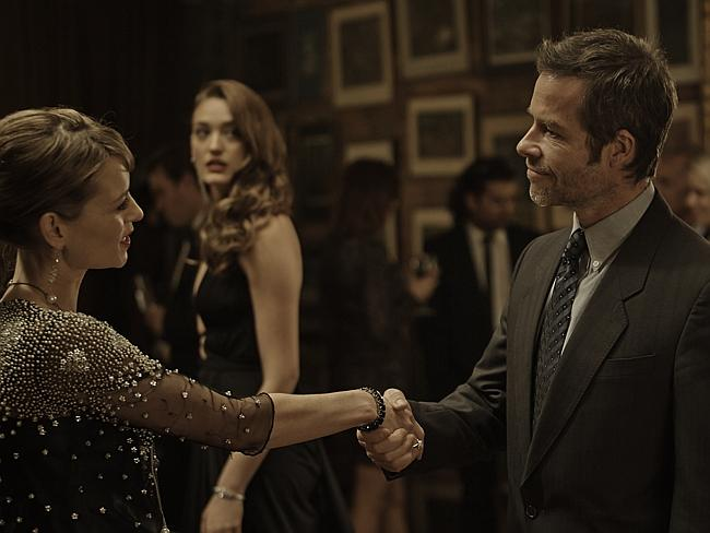 Aussie drama ... Guy Pearce and Kat Stewart in a scene from Jack Irish: Dead Point. Picture: ABC