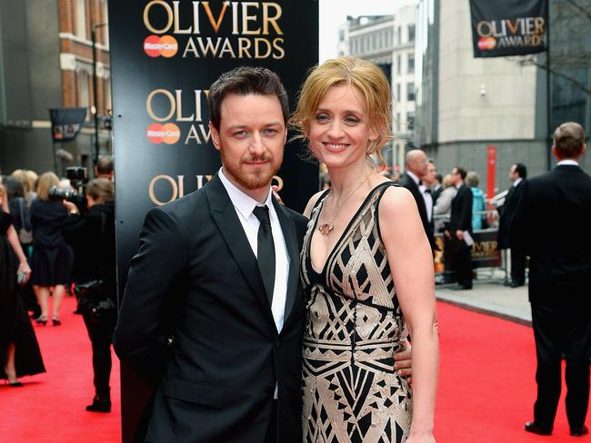 James McAvoy and Anne-Marie Duff met on the British TV series, Shameless, in 2003. Picture: Ben A. Pruchnie/Getty Images