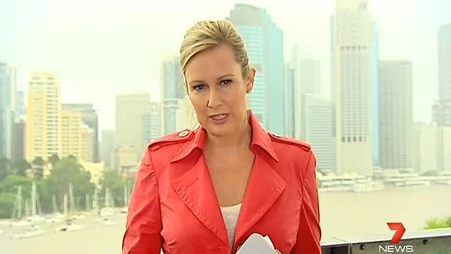 STL Pub date: 03/02/2013 Page: 120 - 30/01/2013 STL FEATURES: Channel 7 Sunrise Host Mel Doyle reporting from the Queensland floods Pic. Youtube N21697264 Picture: Youtube