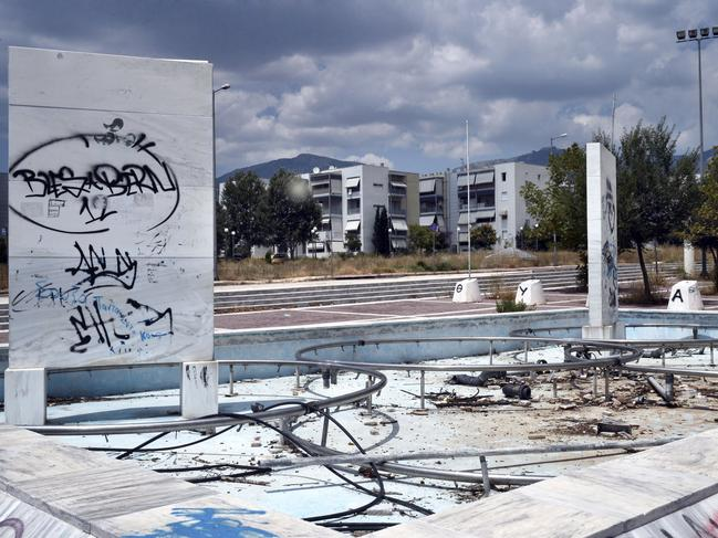 General view of the former Olympic Village in Athens, Greece.