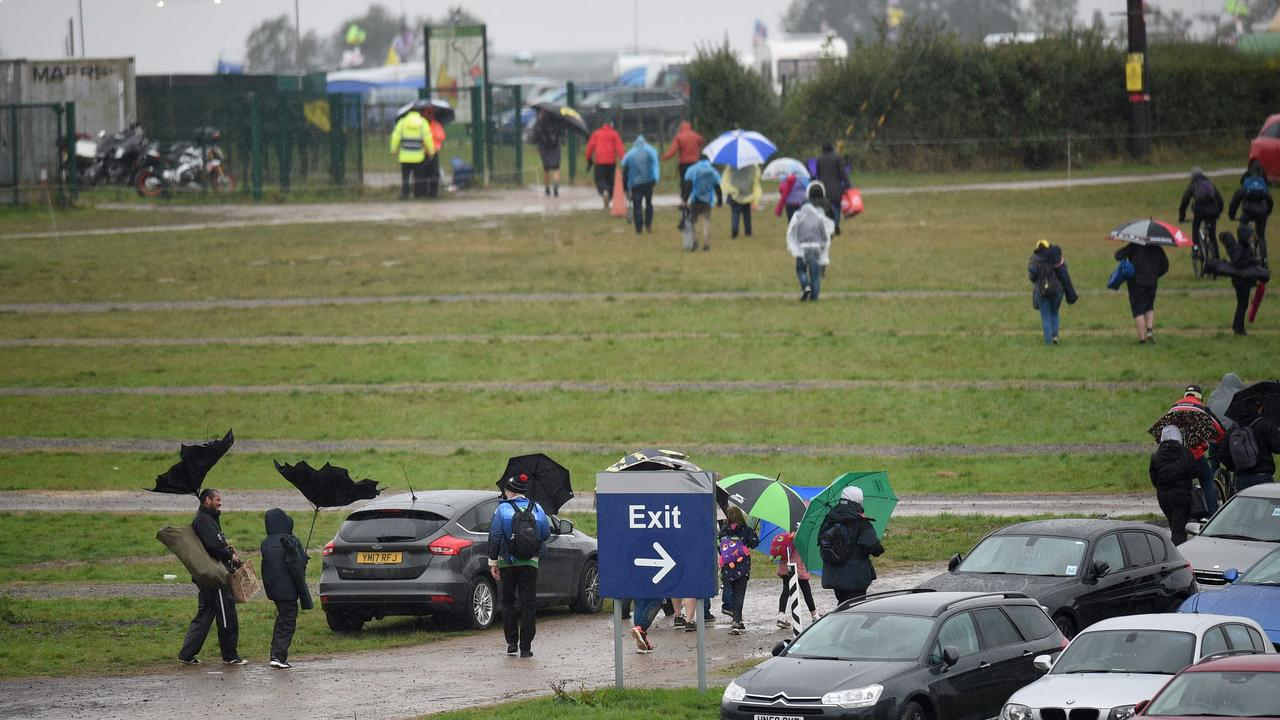 Crowds make their way towards the exits during last year's MotoGP debacle at Silverstone.