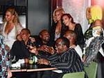 Beyonce, Jay-Z, Kanye West, Kim Kardashian, Sean 'Diddy' Combs and Cassie celebrate their 2016 MTV Video Music Awards After Party at Pasquale Jones in New York City. Picture: Getty