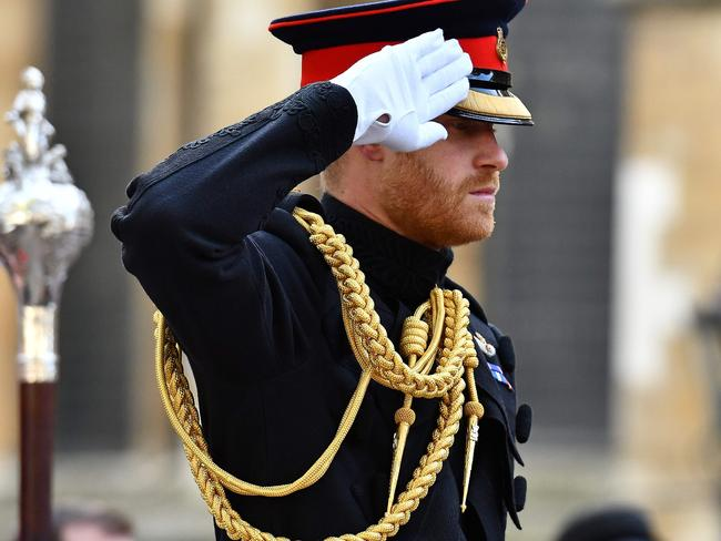 Britain's Prince Harry, Duke of Sussex, once led a life government by protocol and procedure. It's a far cry from the new path ahead of him, and one he may not be able to return to. Picture: Ben Stansall/AFP.