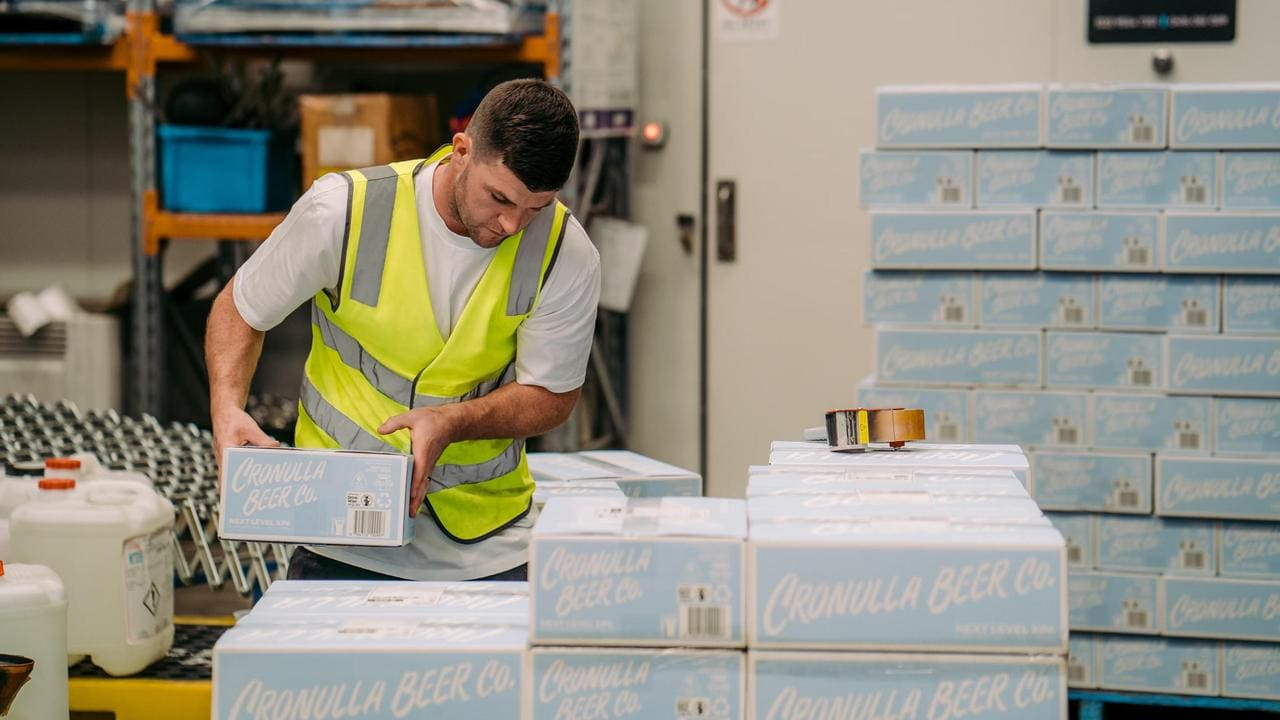 Chad Townsend getting hands on at Cronulla Beer Co. HQ.