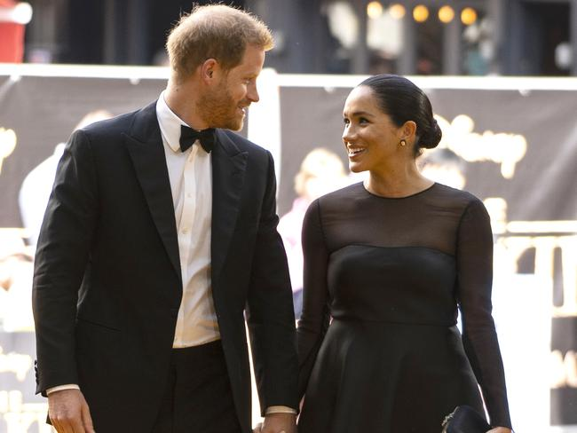 "Prince Harry, Duke of Sussex and Meghan, Duchess of Sussex arrive to attend the European Premiere of Disney's ""The Lion King"" in July Picture: Getty Images."