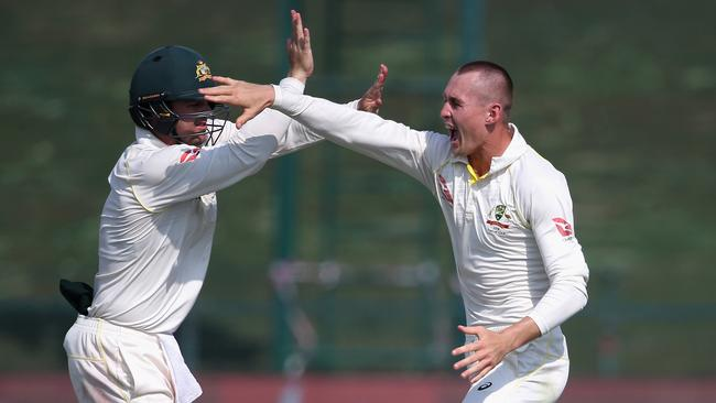 Marnus Labuschagne took some handy wickets in the UAE.