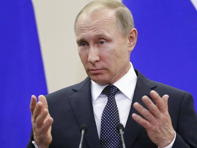 Russian President Vladimir Putin has denied the allegations. Picture: AP