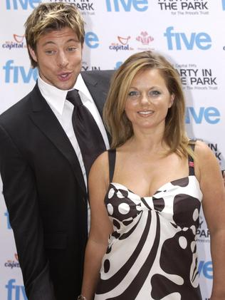 With Geri Halliwell in 2004. Picture: AP