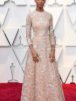 HOLLYWOOD, CALIFORNIA - FEBRUARY 24: (EDITORS NOTE: Retransmission with alternate crop.) Letitia Wright attends the 91st Annual Academy Awards at Hollywood and Highland on February 24, 2019 in Hollywood, California. (Photo by Frazer Harrison/Getty Images)