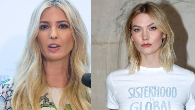Karlie Kloss is a proud democrat so we don't reckon she and sister-in-law Ivanka Trump hang all that often. Image: Getty.