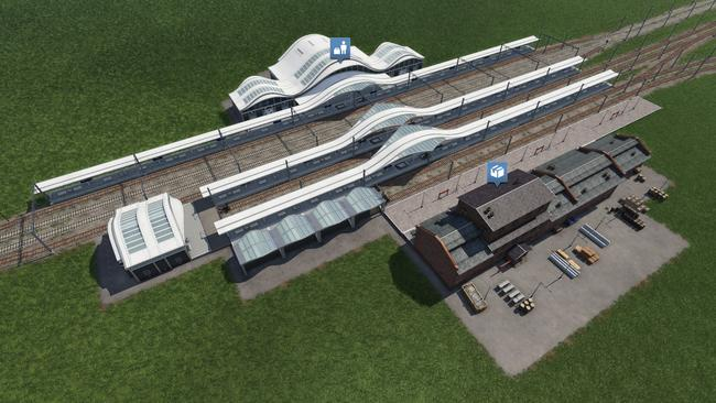 Railway stations and the like will be modular, allowing players to add new features or capabilities as required.