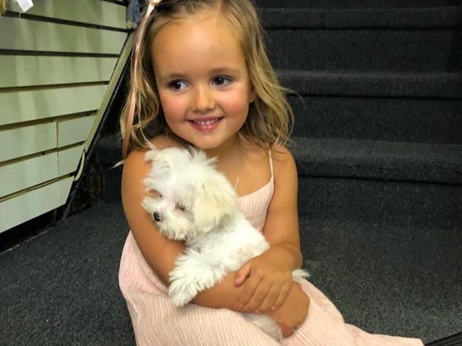 Tamara Ecclestone admits losing count of how many puppies she has bought her daughter Sophia, four. Picture: Instagram