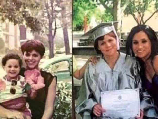 Samantha Markle, the half-sister of Meghan Markle, posted these old snaps of the pair. Picture: Supplied