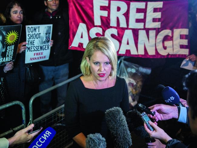 Australian human rights lawyer Jennifer Robinson. Picture: Getty