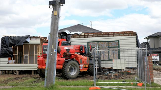 The house was cut in pieces to be transported from Strathmore to Beechworth. Picture: Mark Stewart