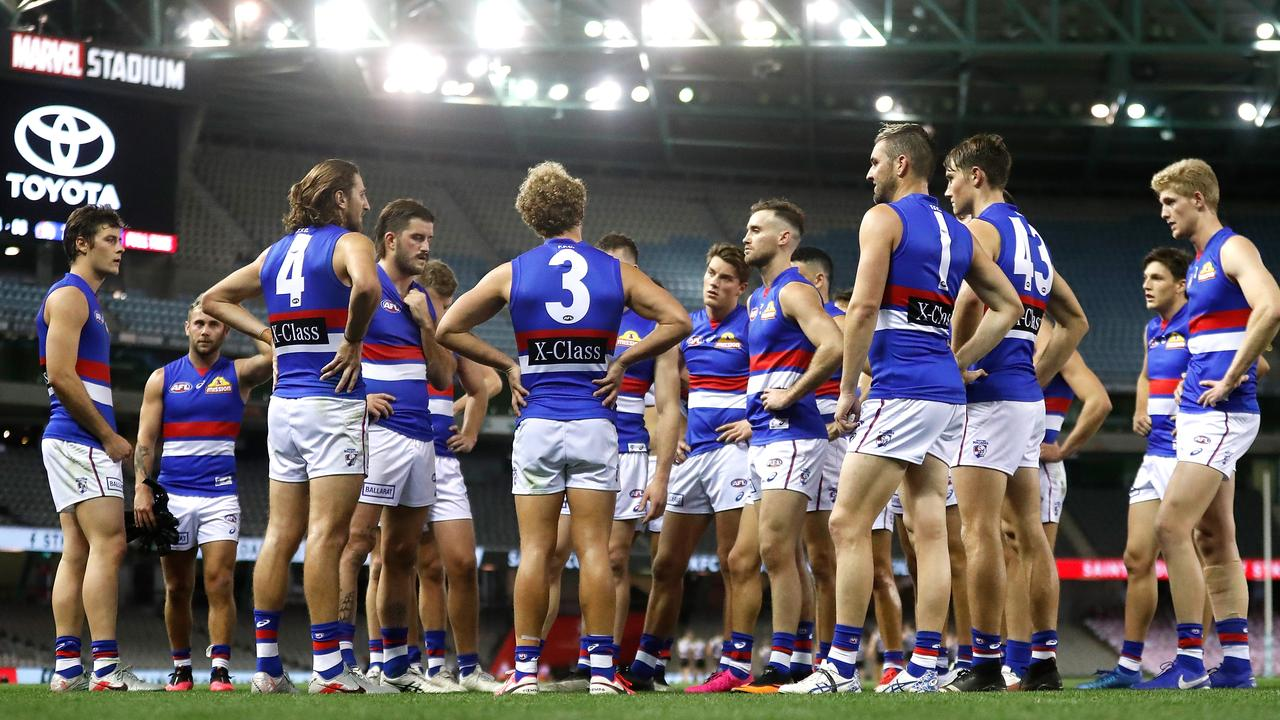 The Western Bulldogs are one of the clubs needing to move players and staff. Photo: Michael Willson/AFL Photos via Getty Images.