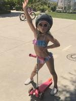 "Jessica Simpson gets her daughter started with her signature look - big sunnies and a bikini... Safety first #MAXIDREW."" Picture: Jessica Simpson / Instagram"