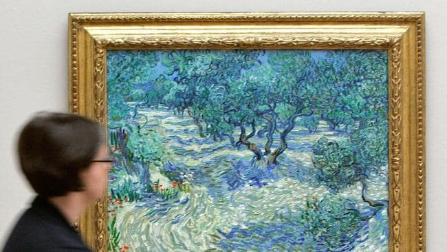 Grasshopper Found In Van Gogh Painting Olive Trees
