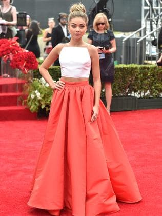 Sarah Hyland attends the 66th Annual Primetime Emmy Awards.
