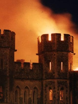 A fire gutted 115 rooms in Windsor Castle.