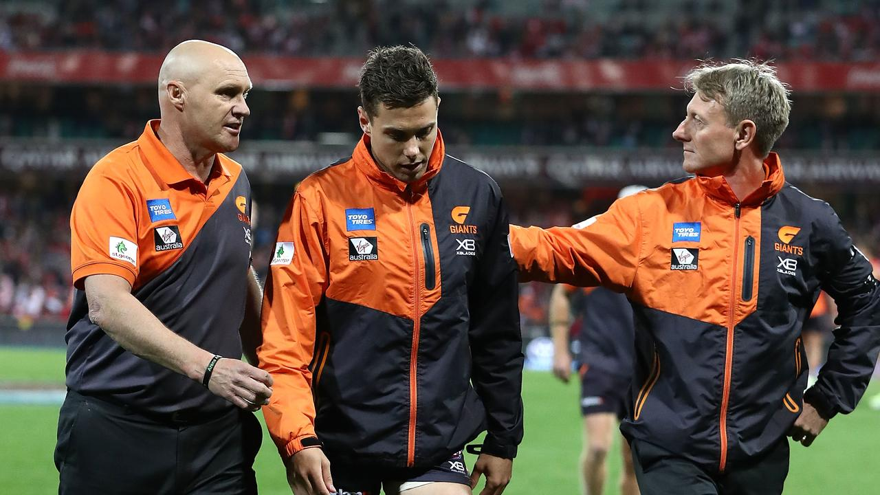 The Giants are hoping Josh Kelly returns in 2018. Photo: Ryan Pierse/Getty Images.