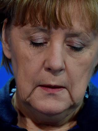 German Chancellor Angela Merkel said we don't know for certain but we must assume the attack is Islamist terror. Picture: AFP / John MACDOUGALL