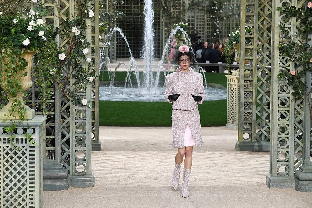 A model at the Chanel haute couture Spring Summer 2018 show. Image credit: Getty Images