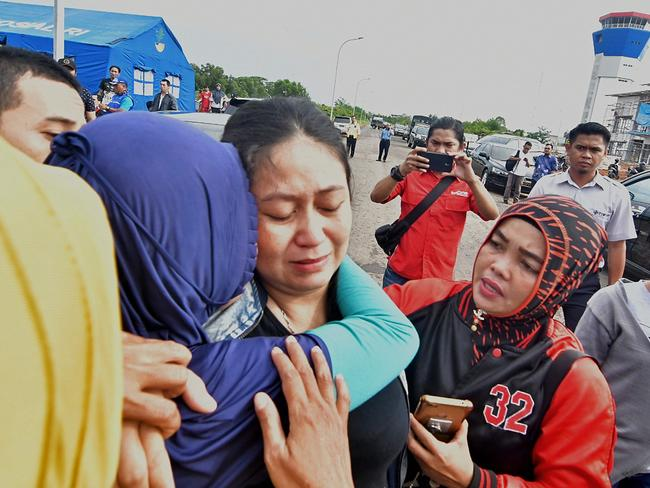 Putri lost her husband and child in the horrific crash. Picture: AFP)
