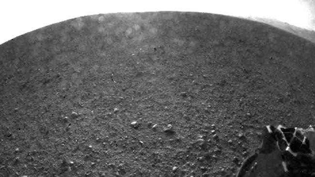 This is one of first images of Mars taken by NASA's Curiosity rover. PIC: AFP PHOTO / NASA / JPL-Caltech.
