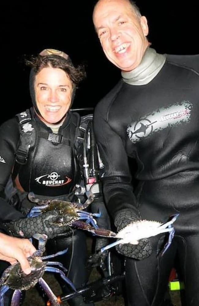 Karen Milligan watched as her partner Gary Johnson was killed by a great white shark. Picture: Esperance Dive Club
