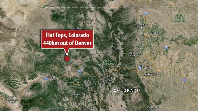 Flat Tops, Colorada, USA. Picture: Google Earth