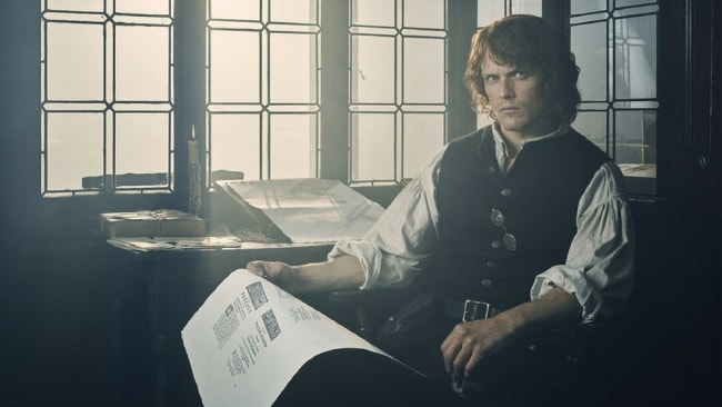 Jamie just checking out some prints. Photo: Outlander/Starz
