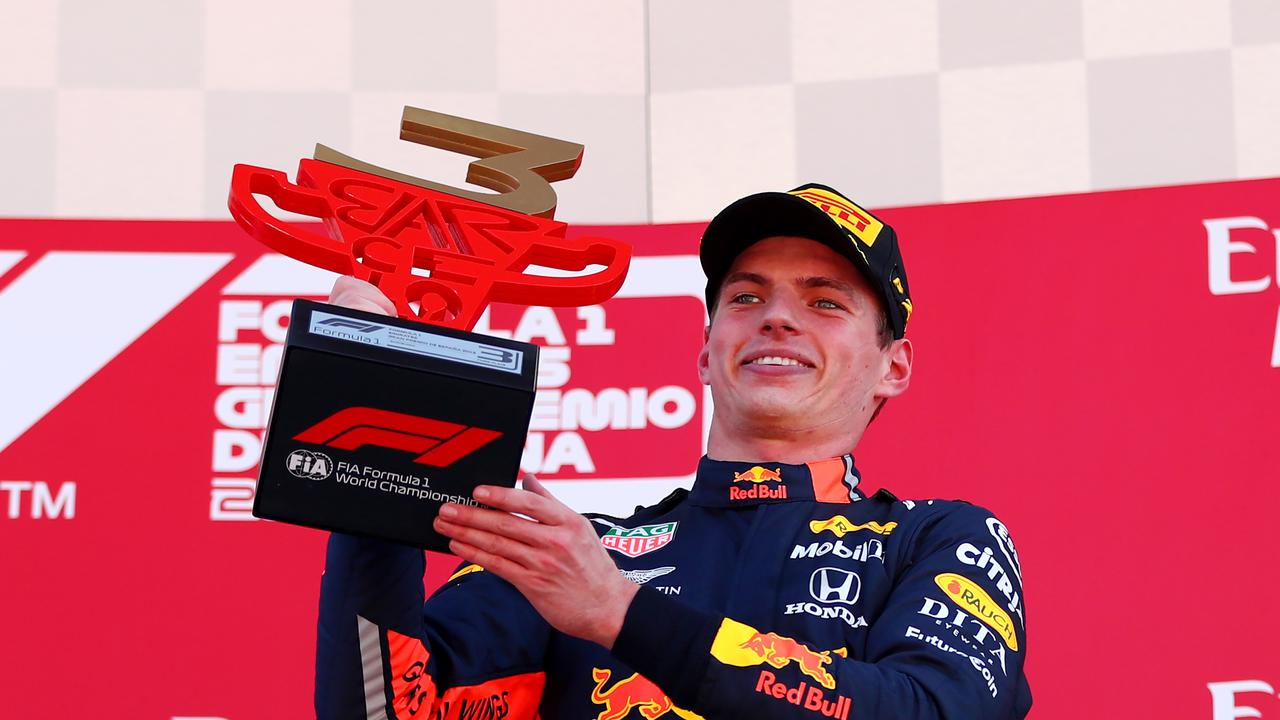 Max Verstappen has not finished outside the top four for 10 races.