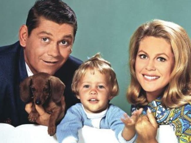 Bewitched the TV show starred Elizabeth Montgomery, Dick York and Erin Murphy. Picture: Supplied