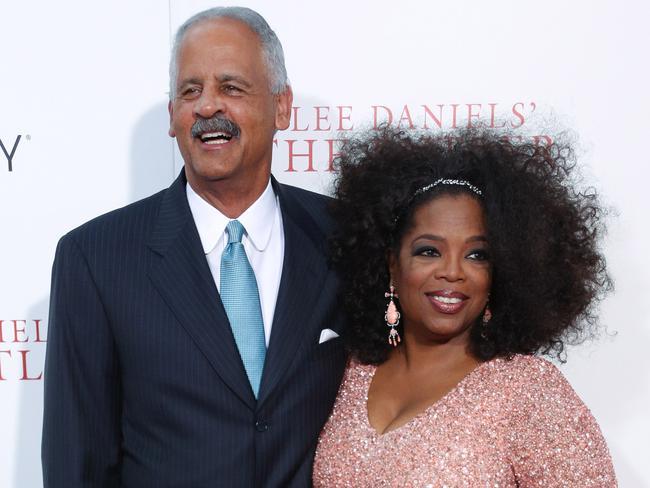 Oprah with her partner of 30 years, Stedman. Picture: Corbis/Splash News