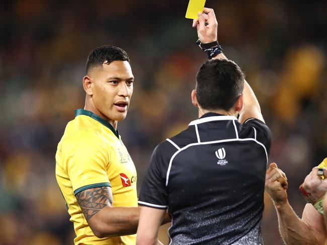 Wallabies coach Michael Cheika can't see Israel Folau ever playing for Australia again.