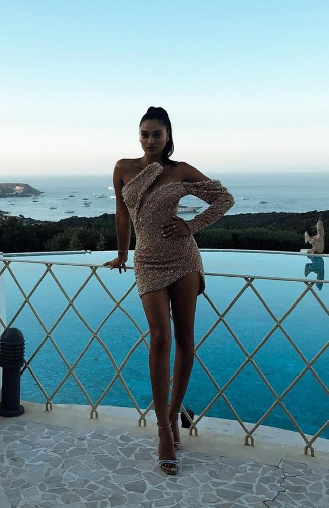 In this holiday snap a fan accused her of editing her legs. Picture: Instagram/ ShaninaShaik