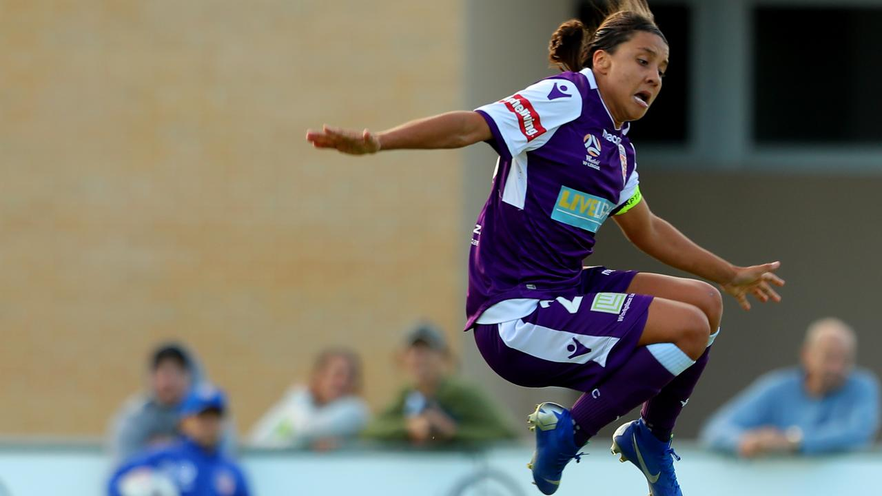 Sam Kerr has soared to fresh heights this W-League season, breaking the record for the most goals all-time in the competition with 65.