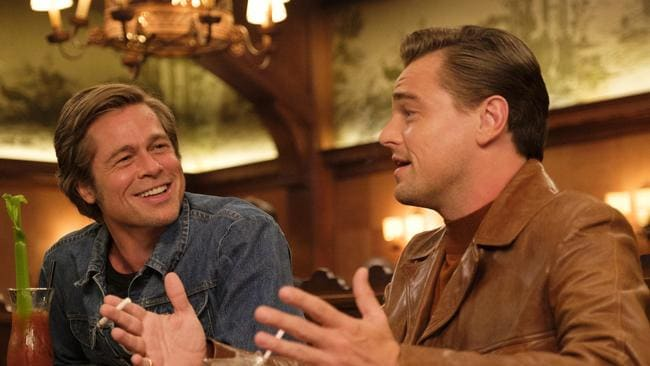 Brad Pitt and Leonardo DiCaprio had not been in a movie together before. Picture: Andrew Cooper/Sony