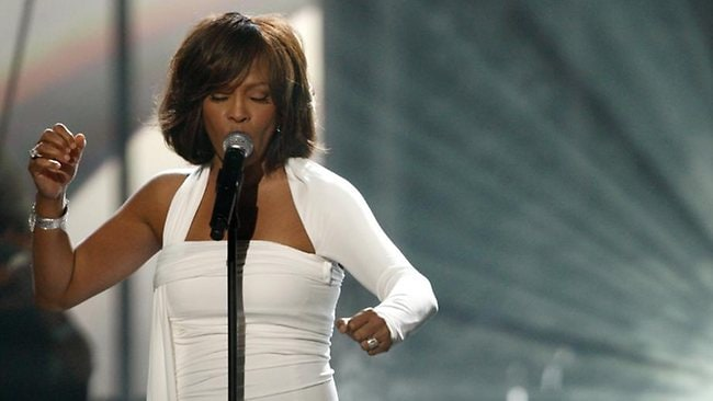Whitney Houston performs at the 37th Annual American Music Awards in Los Angeles in 2009. Houston died Saturday, Feb. 11, 2012, she was 48. Picture: AP