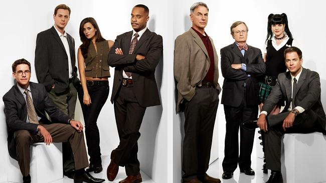 The NCIS cast from season seven. Nice bow tie mate.