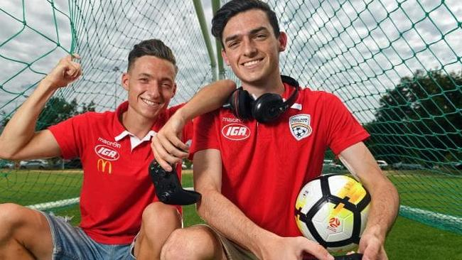 Adelaide United has selected Jamie O'Doherty (right) to represent it in the E-League. His brother Jordan plays for Adelaide United's A-League team.