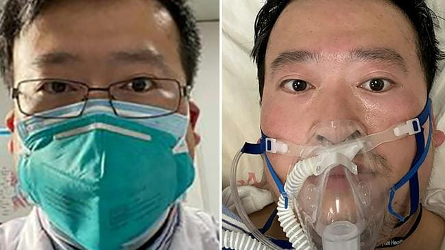 Whistleblowing doctor Li Wenliang died on February 7. Now a second doctor has died. Pictures: AFP