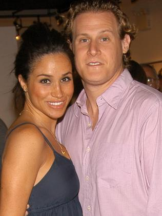 Meghan Markle and her first husband, Trevor Engelson. Picture: Getty